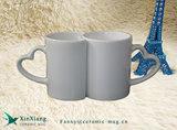 De ceramische Mokken van het Paar, de Ceramische Koppen van de Mok van de Valentijnskaart