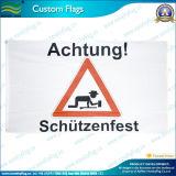 Bandera de la publicidad de advertencia de poliéster baratos (B-NF01F03044)