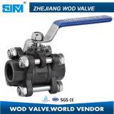 Válvula de bola de acero inoxidable con ISO5211