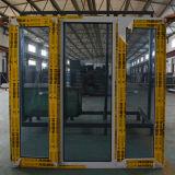 Qualitäts-weißer Farben-Puder-überzogener thermischer Bruch-Aluminiumprofil-Flügelfenster-Fenster mit multi Verschluss K03040