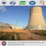 Fabricado en acero Sinoacme galpón Estructura espacial de la planta de energía térmica