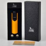 Flamme der Lubinski Induktions-Form-Gelb-windundurchlässige Zigarre-Feuerzeug-3 (ES-LI-002)