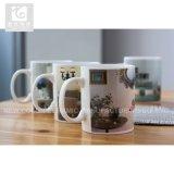la insignia de cerámica del cliente de la taza del té 12oz posee estilo