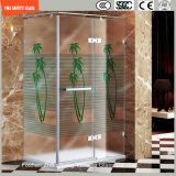 3-19mmのシルクスクリーンプリントか酸の腐食かかパターンSafetytemperedかホーム、ホテルの浴室またはシャワー機構のための強くされたガラスSGCC/Ce&CCC&ISOの証明書と曇らされて