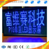 Painel de exibição LED com cores azuis e semi-exteriores