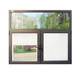 Ventana abatible de perfil de aluminio con obturador entre doble vidrio K03031