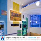 Vidro de flutuador da cor para o vidro decorativo do vidro/edifício