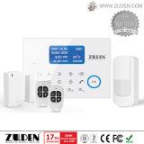 무선 접촉 스크린 GSM+PSTN 주택 안전 경보