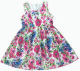 Il vestito Sleeveless da Gril del fiore della maglia di modo per i bambini copre (SQD-106)