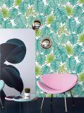 Con hojas de papel de pared y moderno estilo y lujo