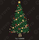 Hot Fix Estrás Motivo de la transferencia de árbol de Navidad