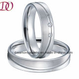 Anelli superiori delle coppie di stile dell'Europa della fascia di cerimonia nuziale dell'anello Handmade dei monili