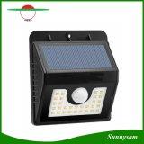 30 LED 200lm PIR Solar Sensor de movimiento del cuerpo humano de la luz de pared jardín al aire libre