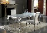 Moderna sala de jantar elegante hotel de casamento em aço inoxidável Velet Cadeira de jantar