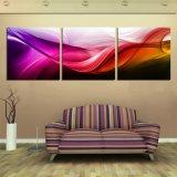 Odern Hauptdekor-Auszugs-Ölgemälde die bunter Wellen-Wind gedruckte Abbildung auf der Wand für Wohnzimmer Mc-257
