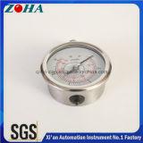 """Tous les indicateurs de pression hydraulique en acier inoxydable Indicateurs de pression 4 """""""