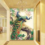 Papeles pintados hermosos autos-adhesivo de los murales de la pared del pavo real