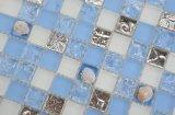 Py039 300x300mm Venta caliente mosaico de piedra gris Blanco, Mosaico en Túnez, duchas con mosaico de vidrio