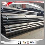 Sección redonda negra del ms tubo de acero del carbón de la construcción y del agua ERW hecha en China