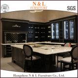 Armadio da cucina modulare di legno solido di disegno caldo della mobilia di N&L