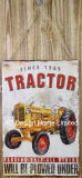 Het uitstekende Ontwerp van de Tractor maakt de Plaque van het Decor van de Muur van het Metaal van de Druk in reliëf