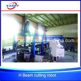 Construcción H U I L plasma completamente automática Shaped de Peb del CNC de la estructura de acero de la viga que hace frente y que corta el precio de China de la máquina que bisela