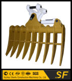 Qualitäts-Zerkleinerungsmaschine-Wannen-Exkavator-Wurzel-Rührstange-Exkavator, der Rührstange kippt