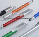 Plástico 3 en 1 pluma de lujo de múltiples funciones de la aguja de la linterna para la promoción