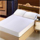 100% Algodón blanco de 4 bandas de 3cm equipos conjuntos de ropa de cama de hotel (DPFB80103)