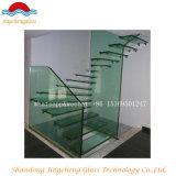 Borrar el vidrio laminado Tempered coloreado para el suelo y las escaleras