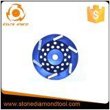 """5 """" 구체적인 화강암 돌을%s 125mm 다이아몬드 가는 모래로 덮는 바퀴"""