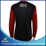 カスタム昇華人の長い袖のラクロッスの射撃のワイシャツ