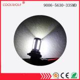 Lâmpada da lâmpada 9006-5630-33SMD do dia do diodo emissor de luz das vendas diretas da fábrica com destaque modificado da lâmpada Anti-Fog da lâmpada da lâmpada da névoa da lente veículo off-Road