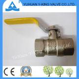 Aktien für gelben Stahlgriff schmiedeten Messingrohrleitung-Ventile für Gas (YD-1076)