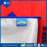 100%年の綿のベロアによって印刷されるブランドのカスタムロゴのビーチタオル