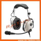 Écouteurs antibruit de l'aviation d'aéronefs avec microphone à électret