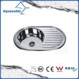 Aquacubic ronde en acier inoxydable pressé évier de cuisine (ACS5150B)