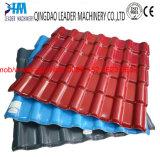 Spanischaussehendes PVC/UPVC Dach/Decke deckt Strangpresßling-Zeile mit Ziegeln