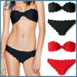 Zwarte Manier Twee van de Driehoek van de Bikini Stukken van het Zwempak van Swimwear