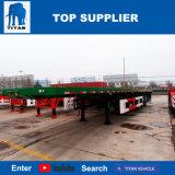 대륙간 탄도탄 차량 - 판매를 위한 세 배 차축 40FT 콘테이너 트럭 트레일러 평상형 트레일러