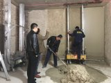 Высокая стена Effieiency штукатуря машина конструкции перевод распыляя