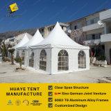 [5إكس5م] [بغدا] ألومنيوم خيمة مع أبيض [بفك] سقف تغطيات & حائط جانبيّ ([هبا] [5م])