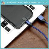 Brown-umsponnener Nylontyp c-schnelles aufladenextensions-Daten-Kabel für die iPad Luft Mini