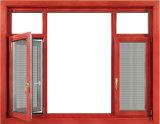 Bois de qualité supérieure européenne l'impression couleur aluminium Fenêtre à battant avec Fly Net en acier inoxydable