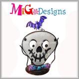 Halloween-Geist-Metall-und Glas-Kerze-Halter-Großverkauf