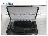Emisiones del teléfono celular de los productos de la seguridad con el caso seguro; G/M, 3G, emisión ajustable inmóvil portable/molde de 6 vendas de la radio UHF del teléfono celular 4G +VHF/