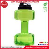 Оптовая торговля бисфенол-А дешевые пластиковые гантель бутылка воды 2.2L спортзал бутылка воды