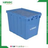 Logistique en plastique empilables Boîte avec couvercle de roulement