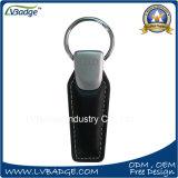 Het Leer Keychain van het Metaal van de douane met het Embleem van de Auto