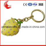 Nouvelle conception 3D Effect Dice en forme de strass Metal Keychain